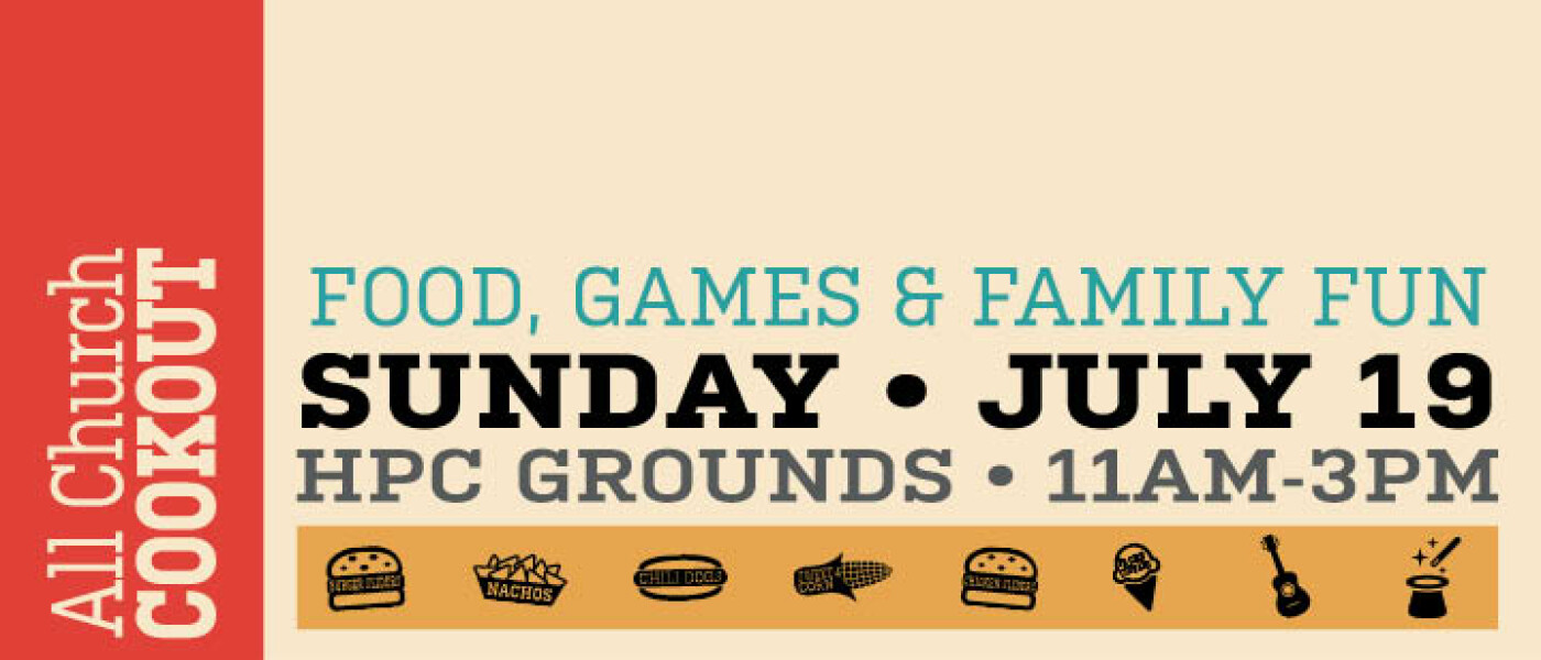 cookout, men's ministry, all church