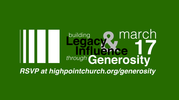 Building Legacy and Influence through Generosity